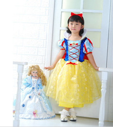 Wholesale NEW Snow White Costumes Princess Dress New Year Halloween Christmas Costumes For Kids Girls Dresses Cheap Online