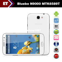Cheap Bluebo N9000 MTK6589T Quad Core 1.5GHz 5.7 inch HD 1280x720 pixels Dual Camera 12.0MP GPS WCDMA WIFI Bluetooth