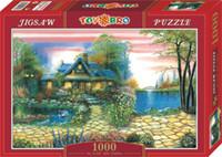 Wholesale Jigsaw Puzzle Chalet Main Entrance Natural Paper Products Landscape Puzzle