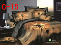 Adult Twill 100% Cotton HOT!!! 3D Oil Painting Bedding set 4PCS,very Cool golden patterns , bed sheets comforter set Duvet Cover bed linen, AT-C15
