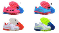 Wholesale AAAA Quality Children Running Shoes Cushion ventilate sport shoes block colors colors Eu28 fast