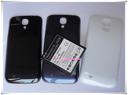 Wholesale 100pcs mAh Phone Extended Battery with back Cover Case For Samsung Galaxy SIV S4 I9500 Best Replacement OEM Batteries
