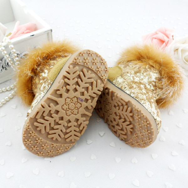 Gold Sequin Toddler Boots Gold Sequins Snow Boots