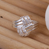 Wholesale HOT SELL new arrive sterling Silver fashion charm gift Austrian CZ Crystal Beautiful Cute pretty lovely ring jewelry R259