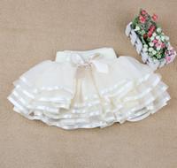 Princesse Enfant Garment Layered Gauze Tulle Plissé Tutu Jupes Cinquième Robe Enfants Vêtements Tiered Dentelle Bowknot Butterfly Bubble Jupe D1199