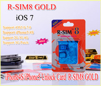 Wholesale New Gevey gold R SIM R SIM8 Dual sim unlock for iOS iOS7 iphone iphone s SUPPORT G G RSIM SIM8