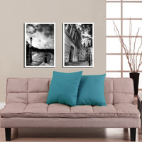 More Panel Printed Oil Painting Fashion 2 Panels Free Shipping Hot Sell Modern Wall Painting Black White Home Decorative Art Picture Paint on Canvas Prints YX-1911