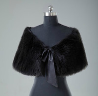 Bride Bridesmaids Faux Fur Shawl Black Bolero 2014 New Wrap ...