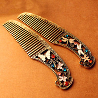 Wholesale Vintage Geometric Women Hair Comb Butterfly Dragonfly Bumpits Combs Fashion Combs Tools Accessories Euro Style RD1218