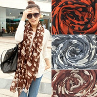Wholesale Europea fashion ladies long thin silk Paris yarn scarf elephant printed cm Pashmina muffler bandelet colorful scarves