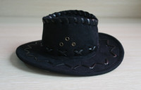 Wholesale Low Price Cool Cowboy Mini Top Hat Hair Accessories Whthout Clip For DIY