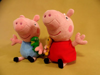 Wholesale Peppa pig George Pig family large Plush toy set Peppa hold Teddy cm