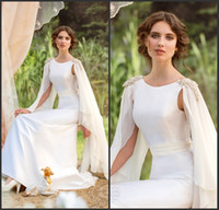 A-Line beach shrug - Design Good Applique Bead Shrug Bateau Sheath White Or Ivory Wedding Dresses With Sash Popular Royal Garden Bridal Dress Gowns Cheap