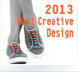 Wholesale 2013 Most Creative Fashion Design Lazy LACES Many Color silicone shoe lace SET L452