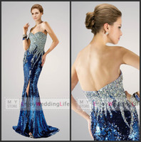 Reference Images Sweetheart Ripstop 2014 Sexy Sweetheart Sequins Mermaid Floor Length Prom Dresses Beaded Rhinestones Top Split Evening Gowns AP 6147