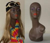Wholesale Female Africa Mannequin Head Bust Neckline Wig Hat Jewelry