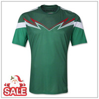Wholesale 2014 Mexico World Cup Home Away Soccer Jersey Best Thai Quality Discount Soccer Uniforms Kits Customized Soccer Jersey National Team Shirts