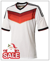 Wholesale 2014 Germany World Cup Home Soccer Jersey Cheap Thai Quality Soccer Shirts New Arrival White Mens Sports Jersey Best Selling Team Jerseys