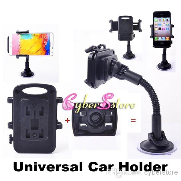 Universal windscreen car mount holder adjustable width windshield cradle for samsung galaxy s7
