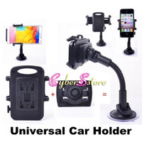 For Samsung   Universal Windscreen Car Mount Holder Adjustable Width Windshield Cradle For Samsung Galaxy Note 3 iPhone 5 5G 4 4S HTC all Cell Phone