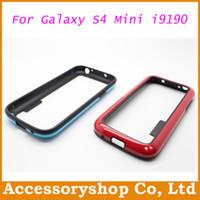 Wholesale Double Colors Soft TPU Thick Bumper Case For Galaxy S4 Mini i9190 Samsung Cool Newest Bumblebee Candy Colors Frame Cover Free DHL