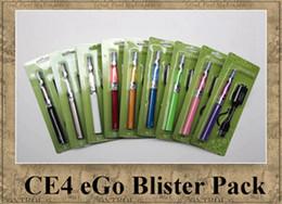 Ego blister ce4 seul paquet en Ligne-kit de EGO CE4 BLISTER seule tige 1,6 ml atomiseur électronique 900mAh cigarette 650mAh batterie 1100mah vapeur coloré clearomizer DHL