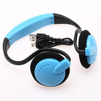 Wholesale DHL FREEBUY CHEAP MP3 PLAYER Multi Color Handsfree Headset Headphone Wireless Sports MP3 Player FM Radio with TF Card Slot