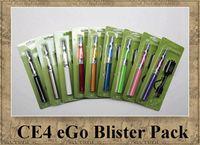 Single Metal a EGO KIT CE4 atomizer elcetronic cigarette blister pack kits 650mah 900mah 1100mah colourful ego t battery 9 colors DHL shipping