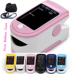 Wholesale CE FDA approved New Fingertip Pulse Oximeter Oxygen monitor six color Silicon Rubber Case