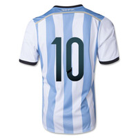 Wholesale Top Thai Quality Argentina Home Blue White Color MESSI Soccer Wears Soccer football Jerseys hollywoodjersey