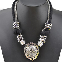 lion charms - Fashion European Style Charming Rhinestone Lion Head Rope Snake Chains Choker Necklaces Pieces