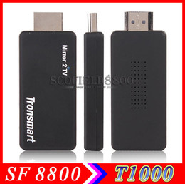 Wholesale Tronsmart T1000 Mirror2TV Wireless Display HDMI adapter Miracast DLNA EZCAST crazy Receivers item for your home andio an video