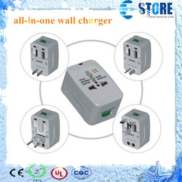 All in One Universal Travel Wall Charger, AC Power Adapter Converter AU UK US EU Plug Worldwide free shipping wu