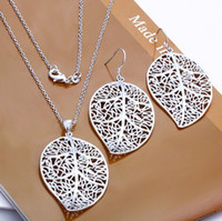Wholesale Loes money promotion silver set high quality silver set fashion jewelry jewelry GSSPS0180 Min order is