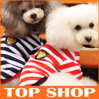 Fall/Winter extra long t shirt - Dog Apparel Dog Coat Winter Cotton Striped Upright Collar Long Sleeve T Shirt Colors Sizes Pet Dog Clothes