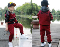 Boy Winter Long New Autumn Winter Korean children's clothing Cotton Thicken Suit 3 Pieces coat+pant+waistcoat DHL FREE MT4