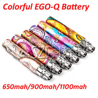 Wholesale 650mAh mAh mAh Colorful E Cigarette EGO Q Battery Electronic Cigarette Battery for ce4 ce5 ce6 atomizer