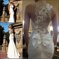 Wholesale 2014 Sexy Tarik ediz Ivory Mermaid Prom dress Long Evening Dresses Prom Formal Ball Gown