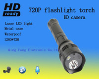 Wholesale 640 VGA digital recording with audio flashlight CMOS degree waterproof torch led recording indicator free ship