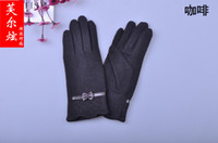 Wholesale New Autumn And Winter Female Wool Gloves Warm Gloves Cute Bow Gloves pairs