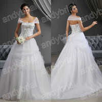2014 Best Selling Beading Off- Shoulder Wedding Dresses Free ...