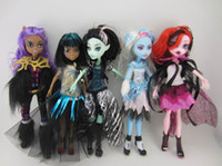 Multicolor, big beautiful dolls - Newest fashion hot Monster High figures Dolls beautiful set come with retail package children girl toys gift model