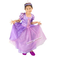 Wholesale Girls prototype purple Rapunzel dress skirt Kids Halloween and Christmas costumes kids performance clothing