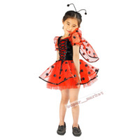 Wholesale Girls princess dress cute little beetle Halloween Carnival Kids Halloween and Christmas costumes kids performance clothing