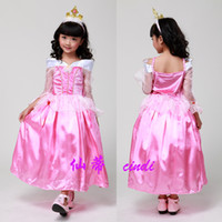 TuTu Summer Pleated Kids Girls Sleeping Beauty Princess Aurora Dress Children Dress Halloween Costumes Birthday Sleeping Beauty Princess Dress Kids