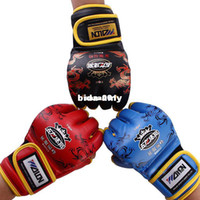 Wholesale pieces High level Quality Half Finger Boxing Gloves Sanda Fighting Sandbag Gloves Dragon Cool Pattern Muay MMA