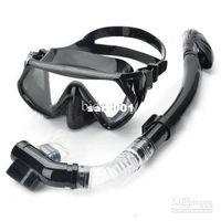 Wholesale Scuba Diving Snorkeling Silicone Mask Set Black