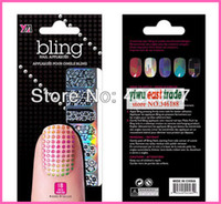 Wholesale free fedex Newest fashion18pcs package D Bling Nail Art Foils Decal tips Sticker Wraps DIY kinds style free