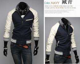 Wholesale 2013 NEW HOT Men s Sweatshirts Jacket Raglan sleeves Collar Sweater Coat CZJ408H