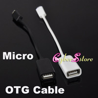 For Samsung   USB A 2.0 Female to Micro USB B Male OTG Adapter Data Cable For Samsung HTC Mobile hard drive